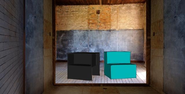 Foto van het zelf ontworpen K-Meubel voor kinderen
