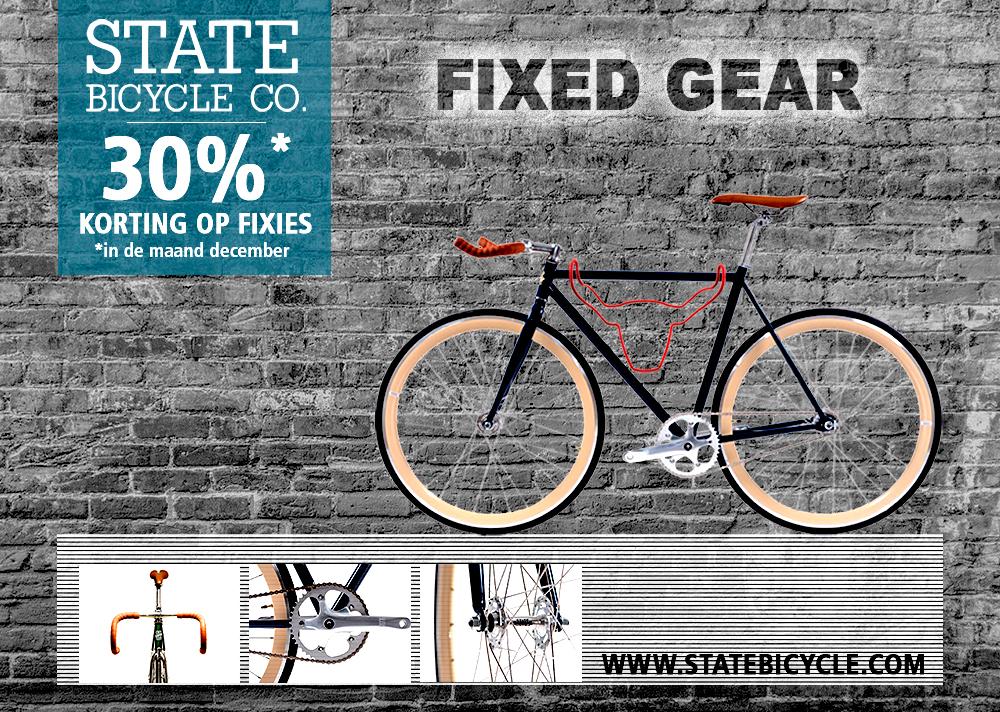 Advertentie van een fiets voor in een sportmagazine