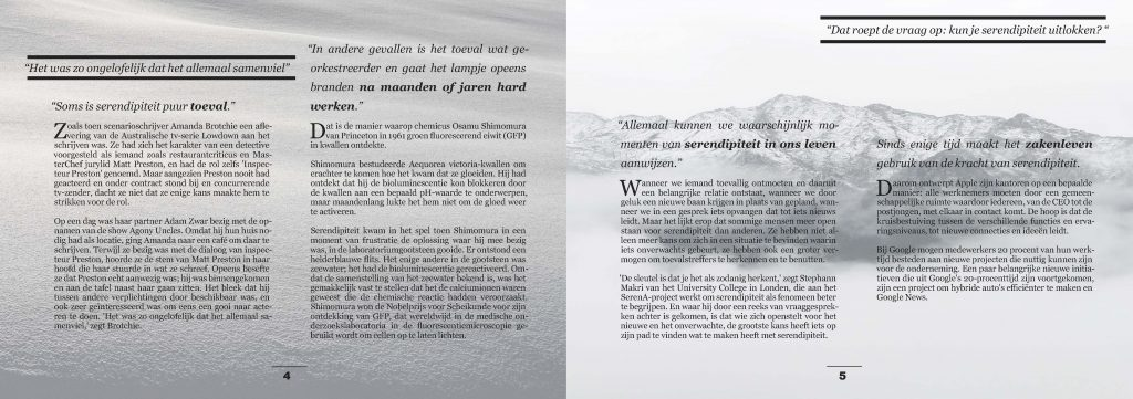 Grafische Vormgeving Print en Web - Artikel in Adobe InDesign cc ©Studio gewoonzo