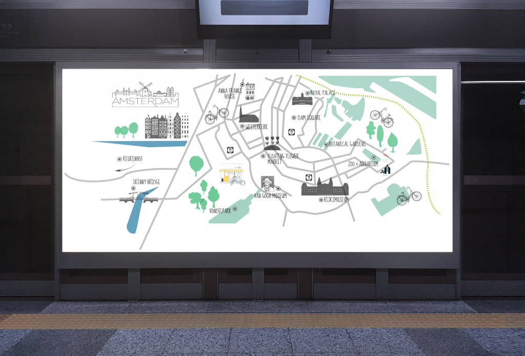 Grafische vormgeving Print en Web Routemap in Adobe Illustrator cc ©Studio gewoonzo