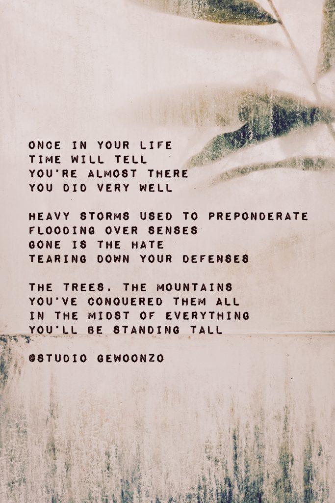 Engels gedicht - Once