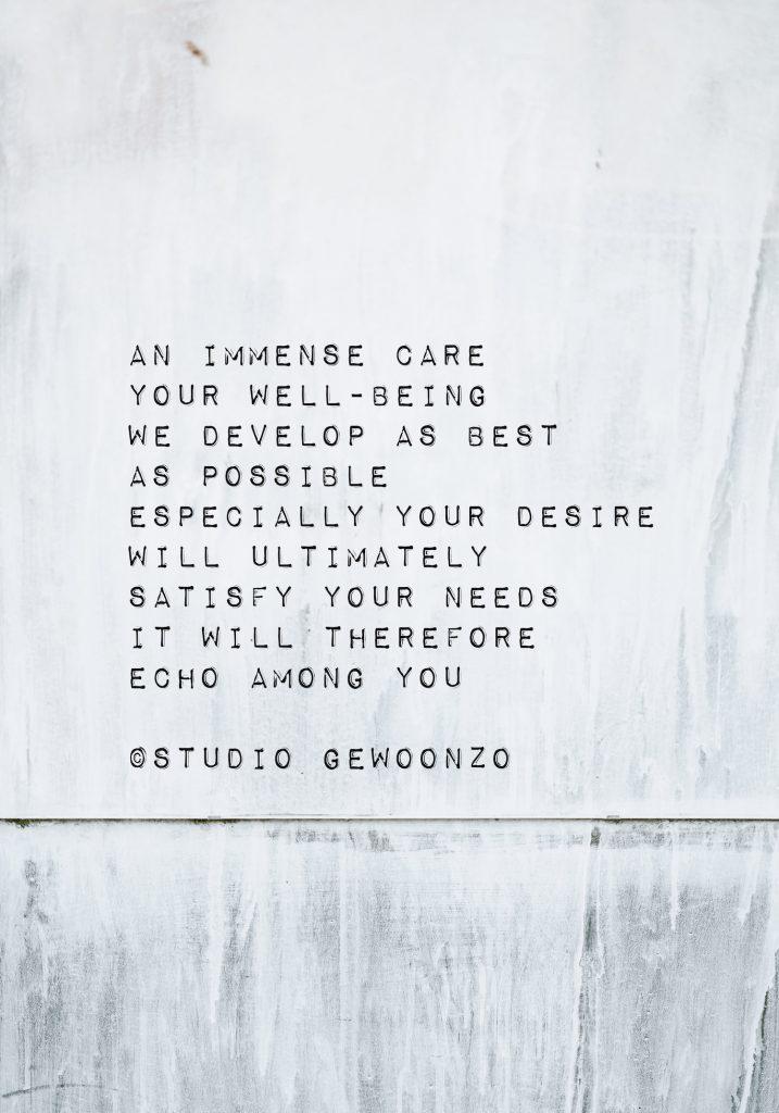 Poëzie - An immense care - ©Studio gewoonzo